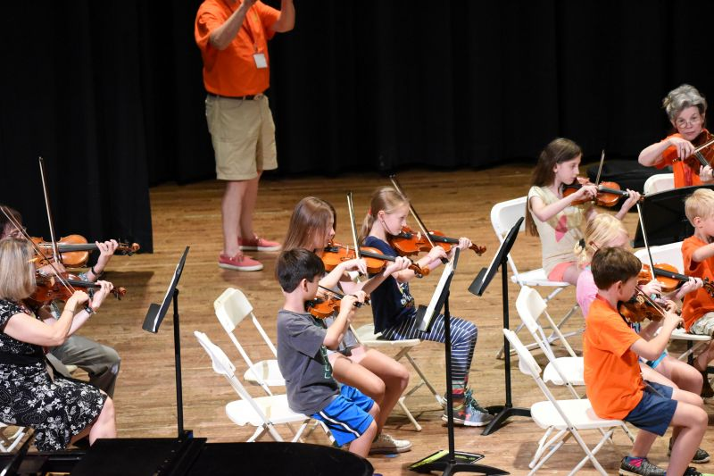 Younger Orchestra rehearsal